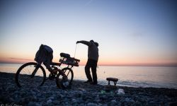 April 28, 2015: Fisherman at Sunset in Batumi