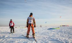 Dec. 4, 2015: Kiteboarding in Siberia