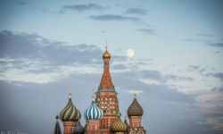 July 29, 2015: Moon over St. Basil's