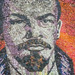 A mural at a Sukhumi resort with Lenin's face.