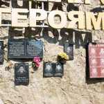 A memorial to those killed in the Abkhaz-Georgian War of 1992-1993