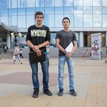 Tigran, 16, was working outside a mall in Nizhny Novgorod sporting a NYC sweater. The ethnic Armenian said he has family in the US.