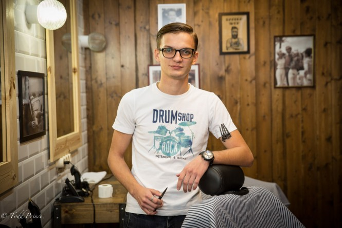 Kirill, a barber in Stavropol in the south of Russia.