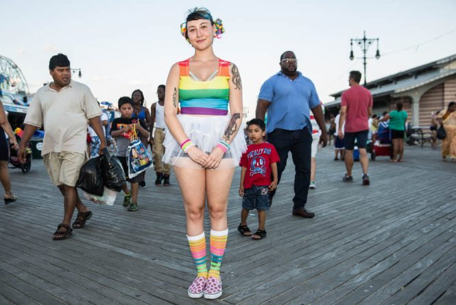 colorful-girl-at-coney-island