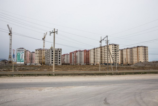 Makhachkala and its outskirts are busy with housing construction projects.