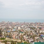 A view of Makhachkala from the hills.