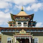 The top of the Zelyonaya Tara temple.