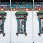 The facade of the Etigel Khambin Temple.