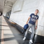 Dima, 31, was wearing a NYC t-shirt as he waited for the metro at Vorobyovi Gori in Moscow. Raised in Kiev, Ukraine, Dima works for Volkswagen in Germany. He has just finished his stint at Volkswagen's facilities in Russia and was on his way back to Germany the following day.