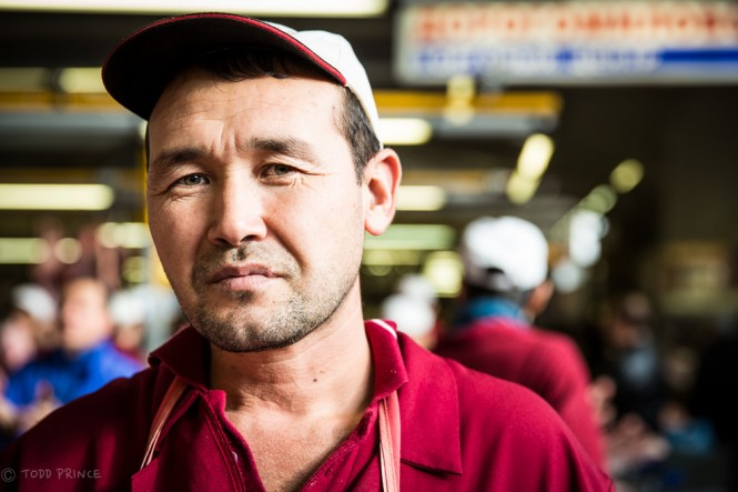 Chori, also from Tajikistan, has been working at the market for about 15 years.
