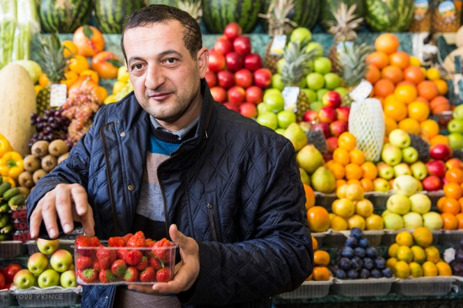 Arzu, a Baku native, has been working at the market for nearly a quarter century.