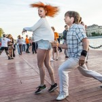 Some of the people coming to dance at Gorky Park have been practicing for years.
