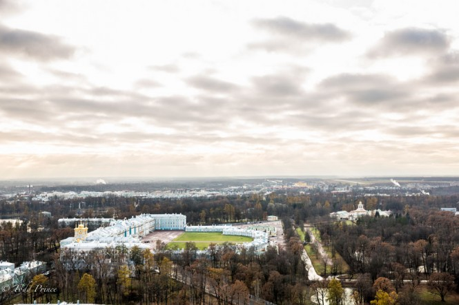 Tsarskoe Selo as seen from the hot air balloon.