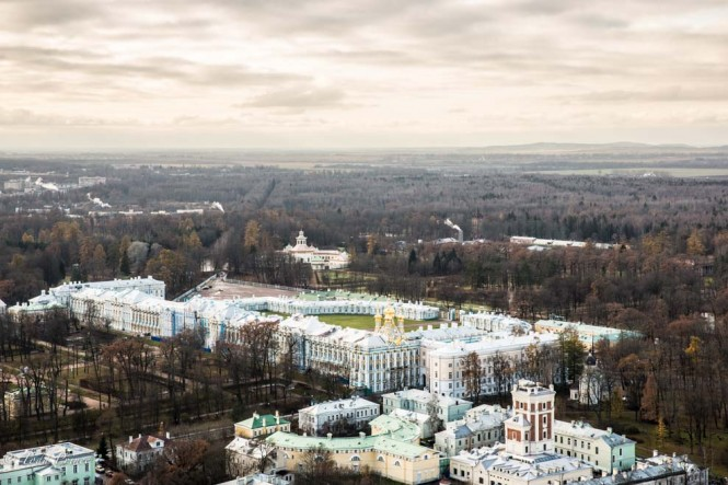 Another image of Tsarskoe Selo from the sky.