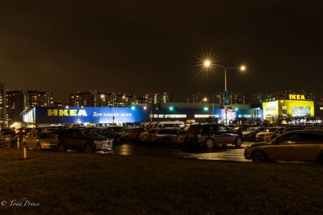 Opened nearly 15 years ago, this Ikea store at the edge of Moscow still pulls in the crowds on the weekends.