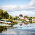 The Onega riverside in Kargopol