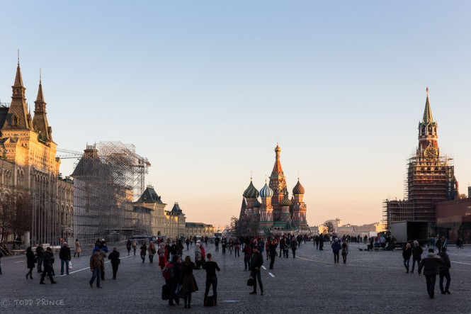 Russia will celebrate a national holiday on Nov. 4 and it looks like a stage is being built on Red Squre for the occasion.