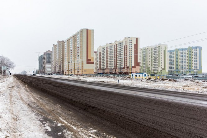The Kursk housing complex consists of panel and reinforced concrete homes.