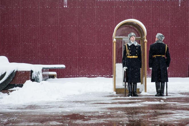 The changing of the guard amid yesterday's storm.