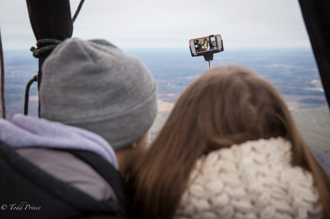 A selfie from the sky.