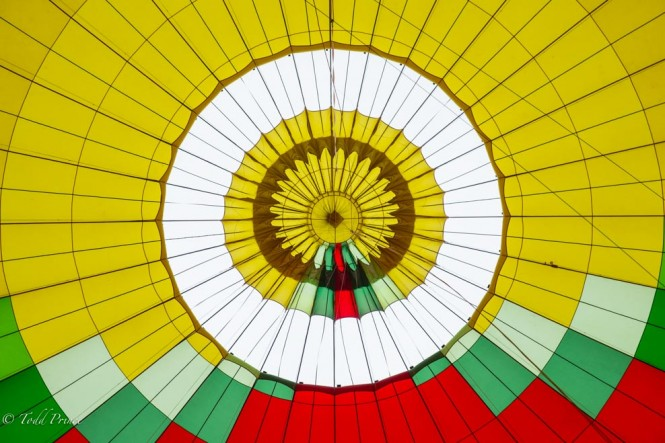 A look inside our balloon, the largest tourist balloon in Russia.