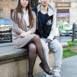 Danil, 17, with his girlfriend in the center of St. Petersburg