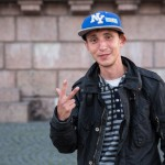 Garik recently moved to St. Petersburg from Novosibirsk. He sells tickets for Neva boat rides.