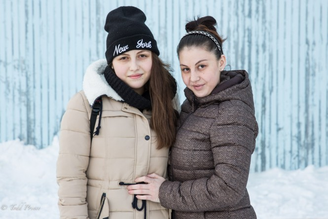 Eliana, 15, and Diana are sisters living in Khabarovsk. Their parents mets in Khabarovsk, moved back to their hometown in the Caucasus, but then returned to Khabarovsk as job opportunities were better.