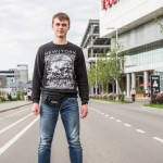 Ivan, 18, was walking outside the Vegas shopping center at the edge of Moscow. He said he wants to study history and that his favorite period from from 1933 to 1945.