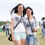 Anna, 28, is from Cherepovets. She is wearing a NYC shirt at the Nashestvie music festival.