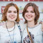 Vera and Yulia, 25, are twins from the Siberian town of Tyumen. This is their third visit to Nashestvie.