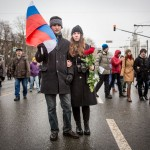 This couple came with three other relatives to pay respects to Nemtsov.
