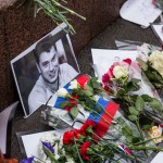 A photo of Nemtsov left near the site of his killing.