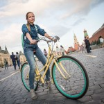 Tanya, 27, an ad agency manager, cut out of her corporate party early to bike around Moscow. I was later told that biking is not permitted on Red Square. She grew up 1,000 km from Moscow on the Volga, but moved here to study.