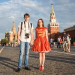 Ivan and Nadezhda, 22, were visiting from the Siberian oil town of Surgut. Nadezhda is from Nizhny Novgorod, 400 km from Moscow, but was introduced to Ivan via a mutual friend and moved to Siberia.