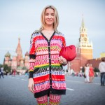 Irina, a Muscovite, said she bought her outfit in Italy.