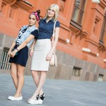 Olesya and Olya, 24, work as senior sales managers at Zolla fashion chain in Moscow.