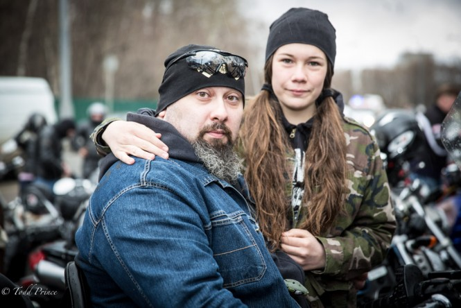 Zhenya with his 16 year-old daughter.