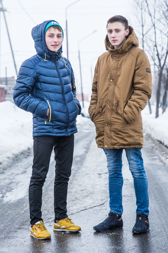 Stanislav (left) is among the young that want to leave to pursue other opportunities.