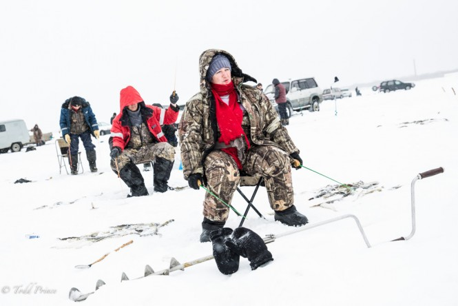 Fishing is not just for men on Sakhalin.