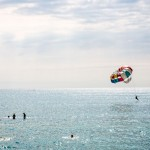 Russians parasailing in Sochi.