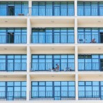 Russians relaxing on the balconies of a new hotel in Sochi.