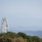A Ferris Wheel reaches high into the sky in Sochi.