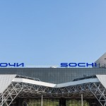 Facade of Sochi Airport.
