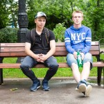 Andrei, 19, was wearing a Bronx, NYC sweater, as he sat with a friend at a Moscow park. He just finished his mandatory army service.