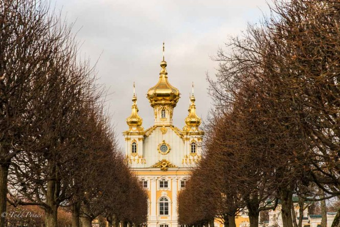 A church on the grounds of Peterhof.