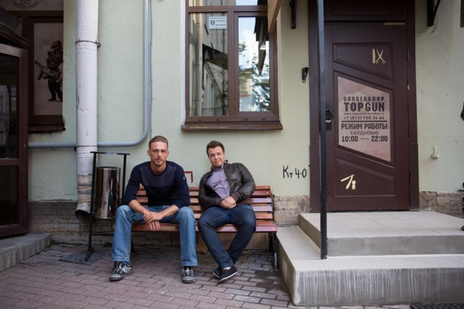 Evgeny and Vladimir, 30, opened Top Gun in St. Petersburg.