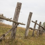 A fence in the village of Small Salnitsa.