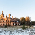 A view of an abandoned village church in Vladimir region.