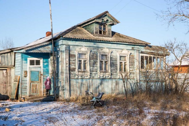A home in the Vladimir Region village of Perovo, where I found a driver to show me the surrounding 'ghost' village cluster.